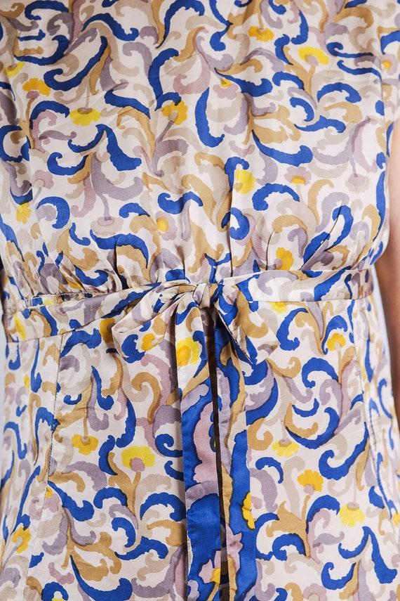 1960s paisley print silk maxi dress - image 9