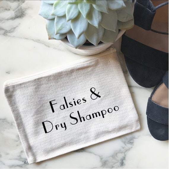 Falsies And Dry Shampoo - Canvas Makeup Bag