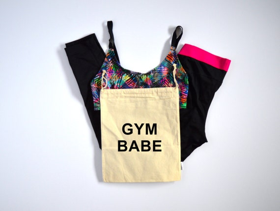 Gym Babe Bag - Muslin Bag with Drawstring