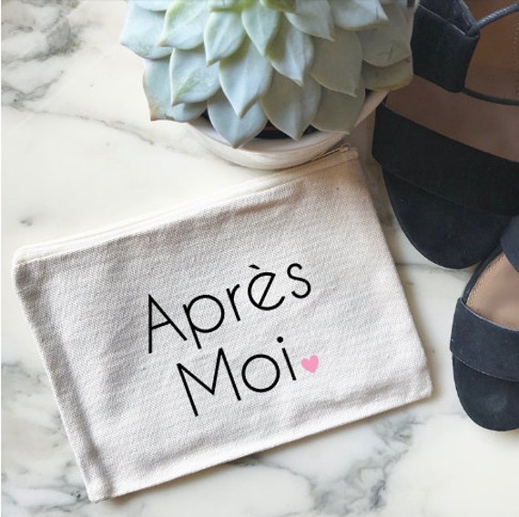 Canvas Cosmetic Bag: Apres Moi - French Makeup Bag