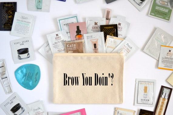 Canvas Cosmetic Bag: Brow You Doin'? - Makeup Bag