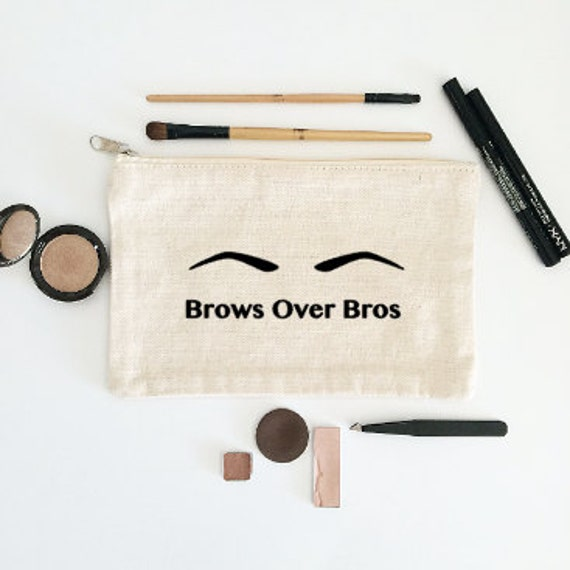 Canvas Cosmetic Bag: Brows Over Bros - Makeup Bag