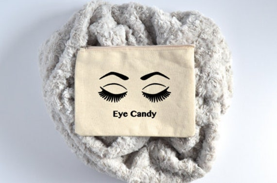 Canvas Cosmetic Bag: Eye Candy - Makeup Bag