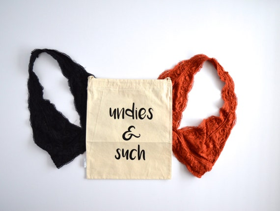 Undies and Such - Travel Delicates Muslin Bag with Drawstring