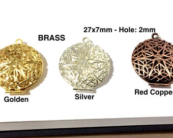 Wholesale 6x Brass Teardrop Shaped Locket Charms Necklace Pendant Crafts 52194