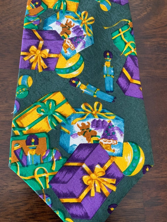 Christmas Birthday Presents Tie - image 3