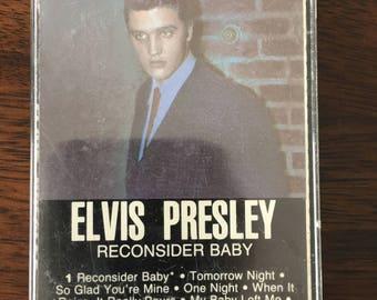 Elvis Presley Reconsider Baby Cassette Tape