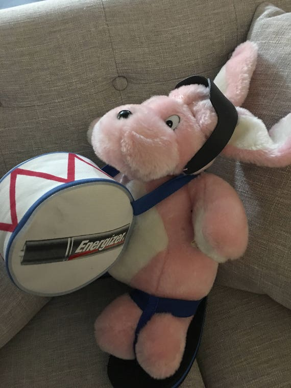 Rare Energizer Bunny Plush With Drum Flip Flops And Etsy