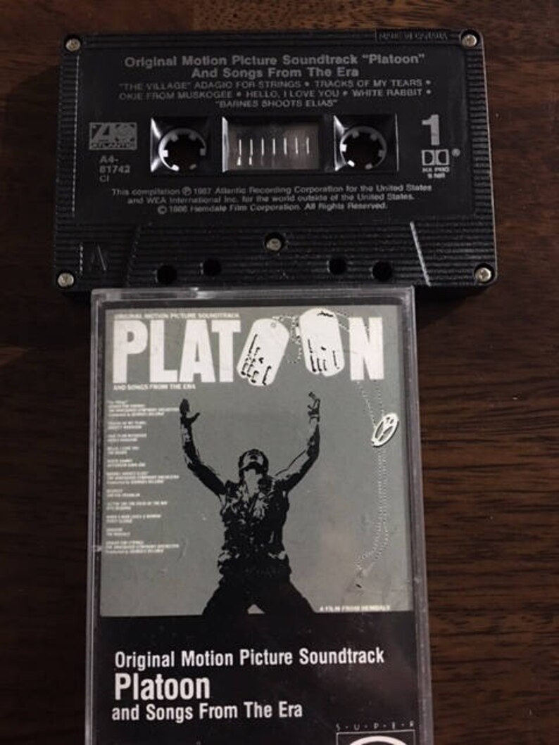Platoon Soundtrack Cassette tape