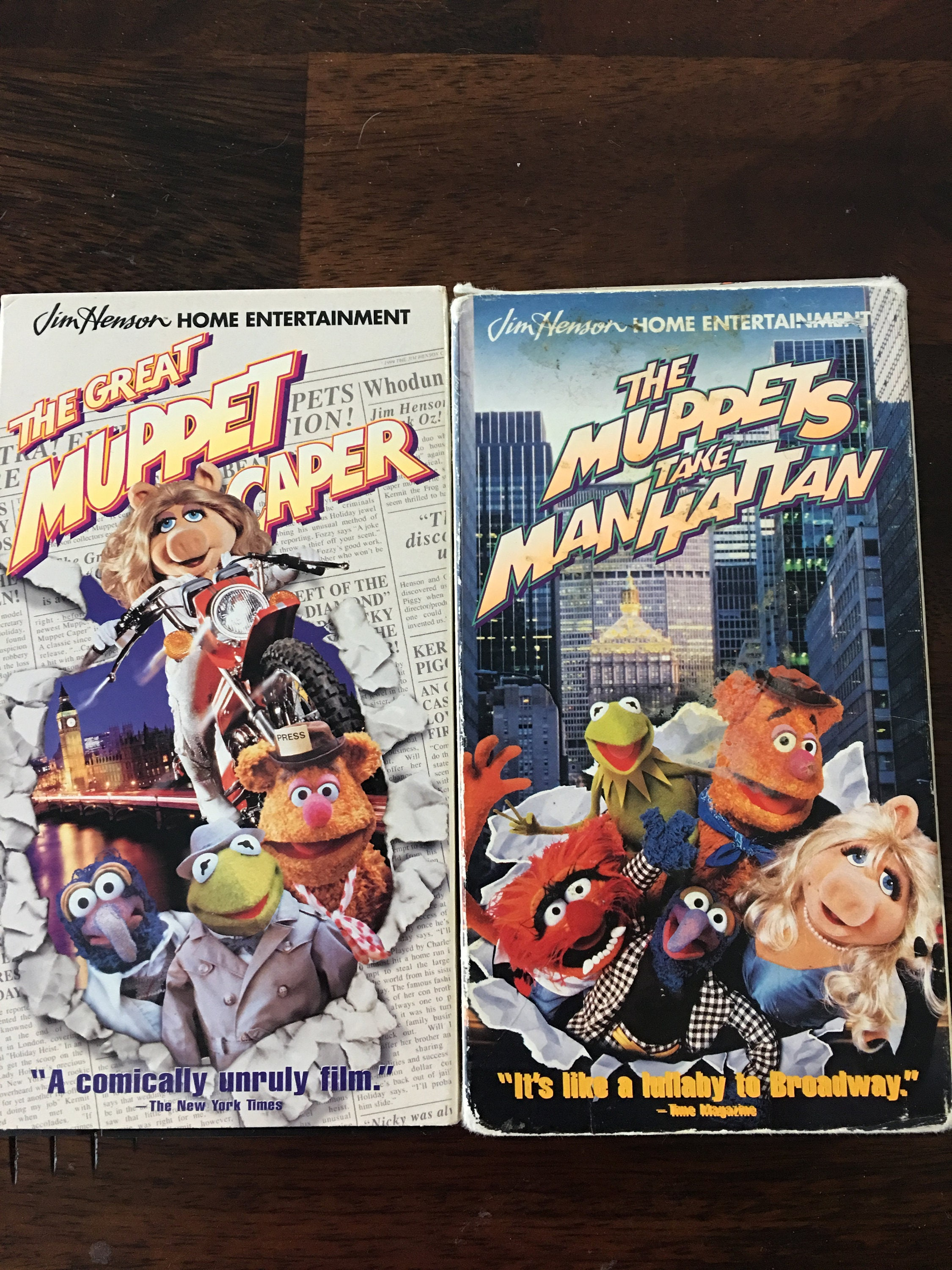The Muppets VHS Set Muppets Take Manhattan and The Great Muppet Scaper
