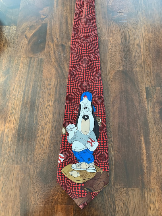 Droopy Dog Baseball Tie