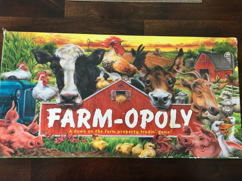 Farm Opoly Board Game Etsy