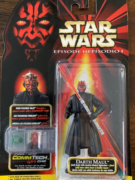 Star Wars Episode 1 Darth Maul Double Bladed Light Saber CommTech Jedi Duel