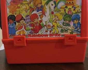 Vintage Rainbow  Brite Kids Lunch Box 1980's