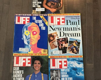 Vintage Life Magazine Pack Featuring Mike Tyson and Robin Givens