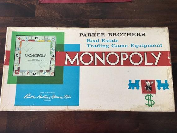 Jahrgang Monopoly Brettspiel 1961 sehr gutem Zustand mit Extra | Etsy