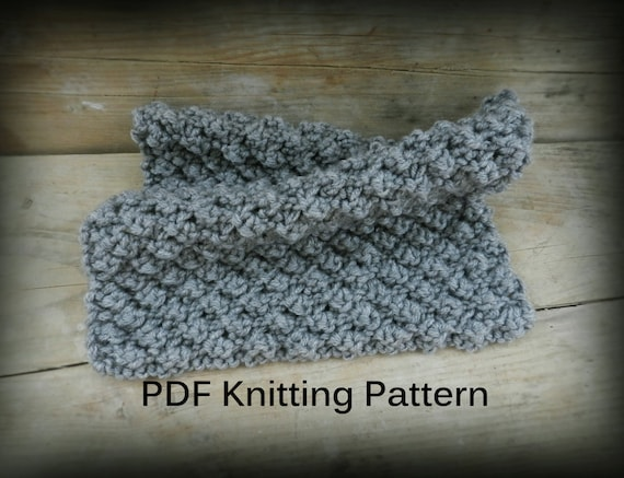 Pdf Knitting Pattern Easy Knit Blanket Gray Knit Baby Blanket Etsy