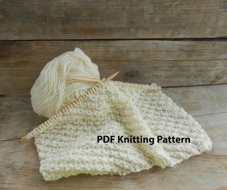 123 PDF Knitting Pattern Easy knit blanket White Knit Baby | Etsy