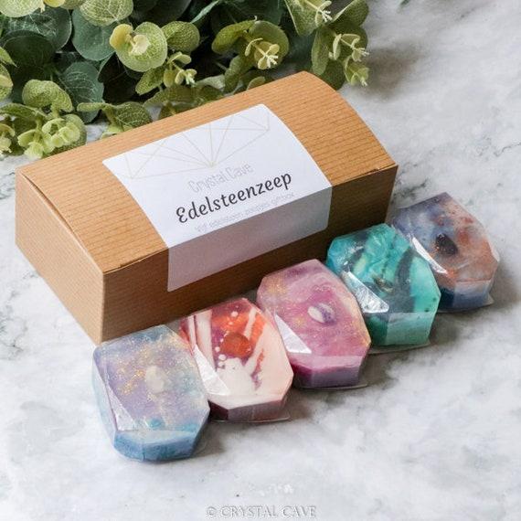 Crystal Soap Gift Set Box - Crystal Infused Skincare - Wedding Gift - Christmas Gift - Unique Handmade Soap GIft - Handmade Beauty Cosmtics