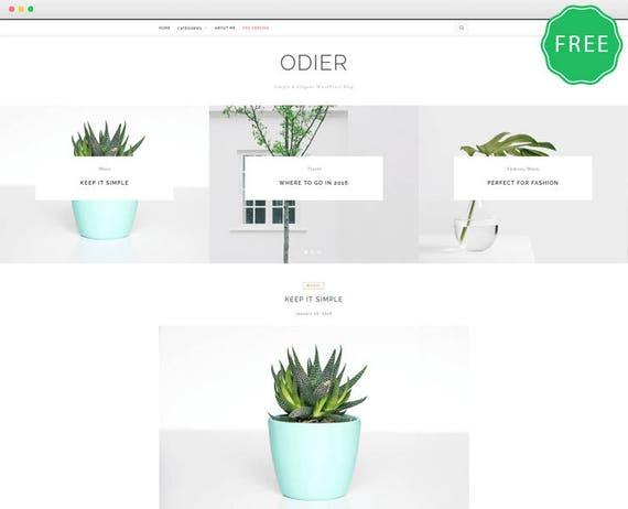 odier lite a simple elegant wordpress blog theme etsy