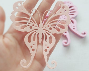 12x EXTRA LARGE BUTTERFLIES - paper butterfly - die cuts - baby shower - princess birthday party - wedding day - party decor - scrapbooking
