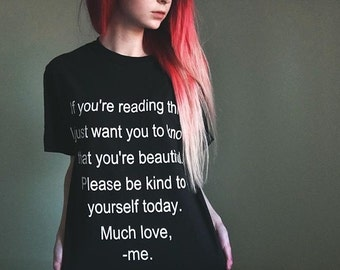 Self Harm Prevention/ Self Love Awareness T-Shirt :)