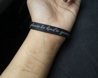 Please Be Kind To Yourself Today - Self Love Bracelet :)