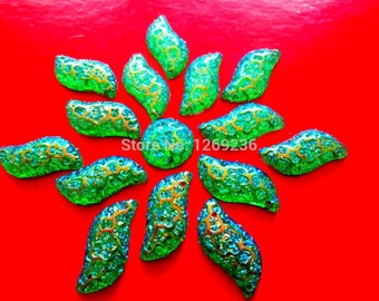 Promotion 120pcs 9 18mm S shape sew on Resin crystal Green AB Color Rhinestones  Stones Accessores Loose Beads adfb1e5356d3