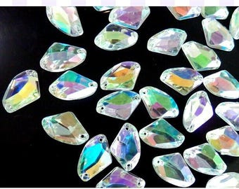 Loose beads 200pcs 9 14mm Clear AB Sew On Acrylic Crystal Rhinestone  Galactic Shape for sewing stone flatback strass Diamond 91 3fe3631649e0