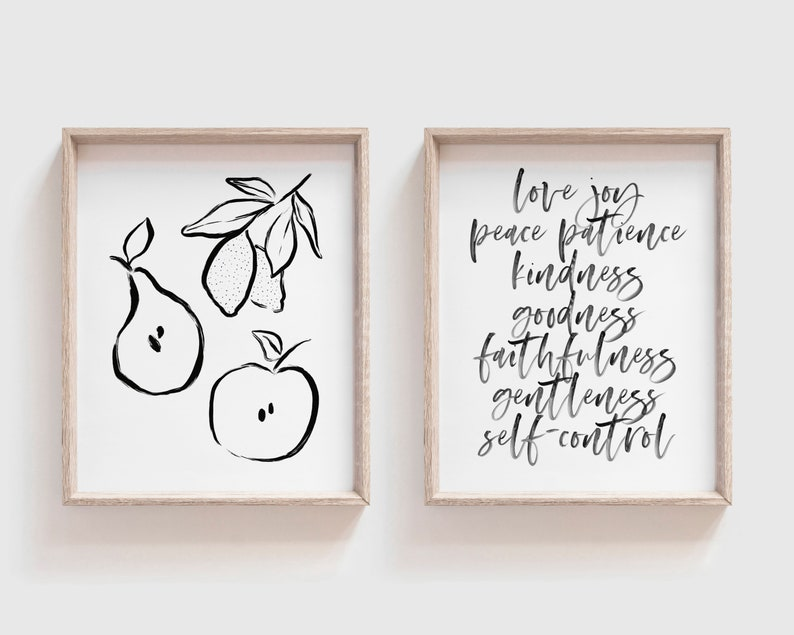 Fruit Of The Spirit  Love Joy Peace...  Downloadable Prints image 0