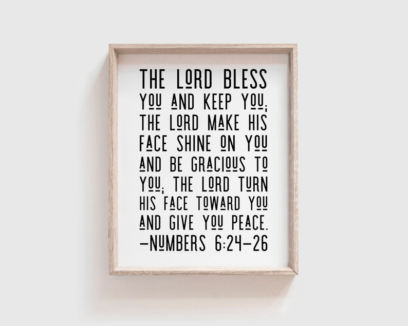 Numbers 6:24-26  The Lord bless you and keep you the Lord image 0