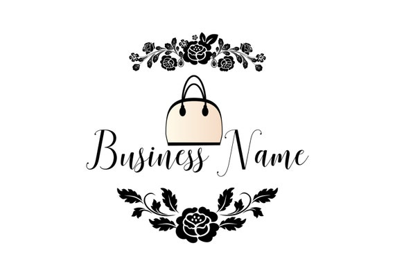 clear-cut texture store good service Custom logo design,bag purse logo, fashion bag logo design, purse watermark  logo design, purse and roses flowers logo design