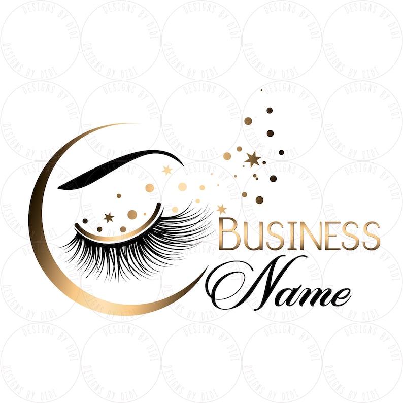 Custom logo, moon gold lashes logo, eyelash logo, cosmetics logo, gold  black lashes logo moon, Lashes sparkles logo, glitter gold lash logo