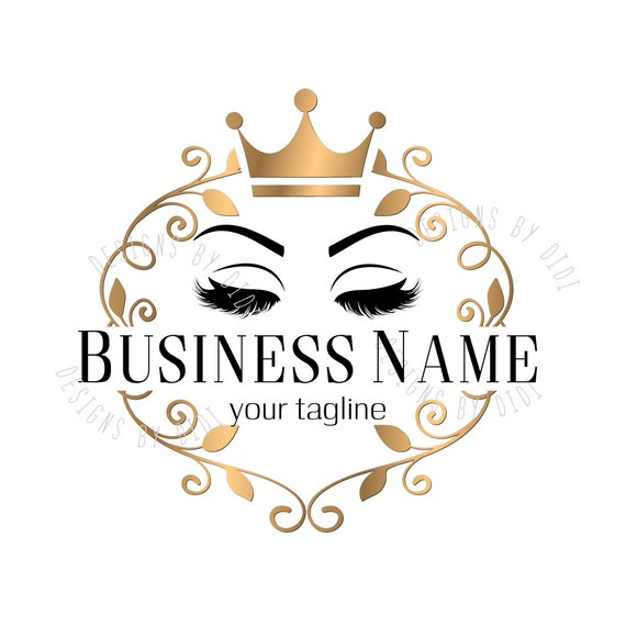 custom logo lash gold lashes crown logo eyelash gold crown