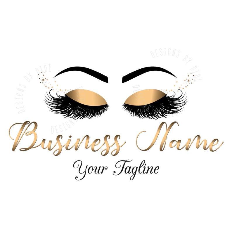 Custom logo, black gold lashes logo, eyelash logo, cosmetics logo, gold  black lashes logo, Lashes with sparkles eye logo