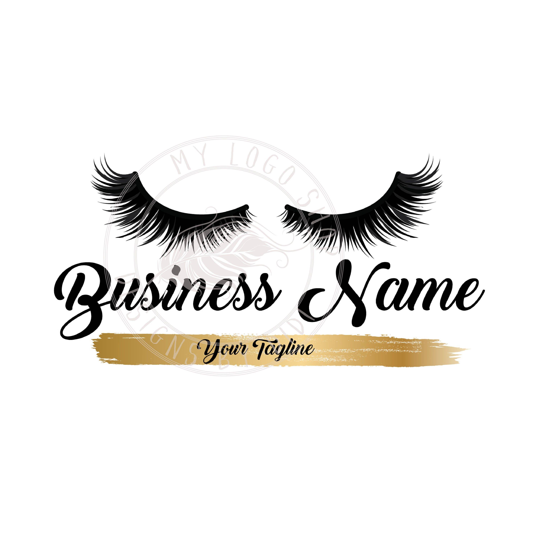 Custom logo, black gold lashes logo, eyelash logo, cosmetics logo, gold  black lashes logo, Lashes eye logo