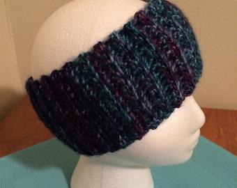 "Crochet ear warmer, crochet headband - ""Tropical Pink"""