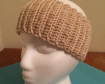 Crochet ear warmer, crochet headband - Cream