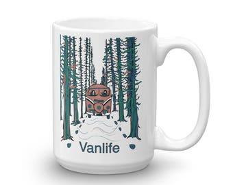 Vanlife t-shirt / Vanlife shirt / vanagon mug / hippie cup / camping mug / westfalia cup / Gifts for travelers / Gifts for hippies