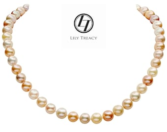 Lily Treacy 9-10mm Multi-color Freshwater Pearl Maddy Strand Necklace 18