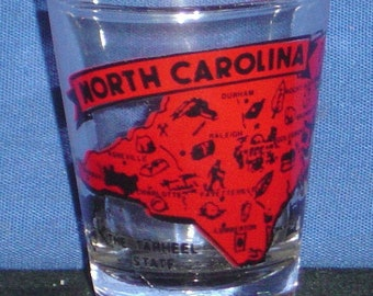 NORTH CAROLINA STATE MURAL SHOT GLASS SHOTGLASS
