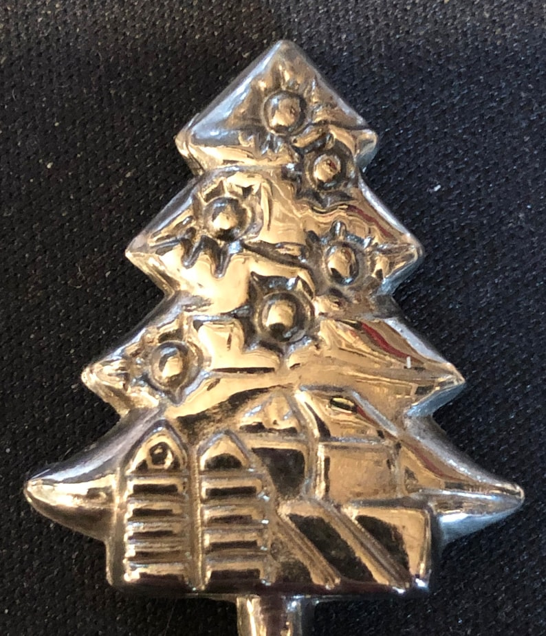Decorated Christmas Tree on Souvenir Spoon top pre-owned