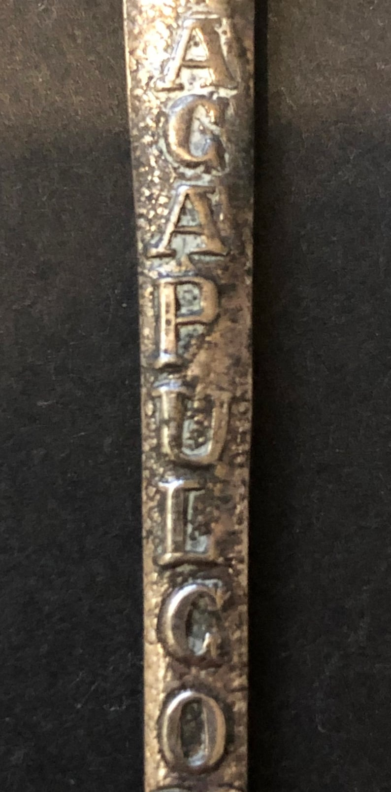 Acapulco Mexico Silver Souvenir Spoon