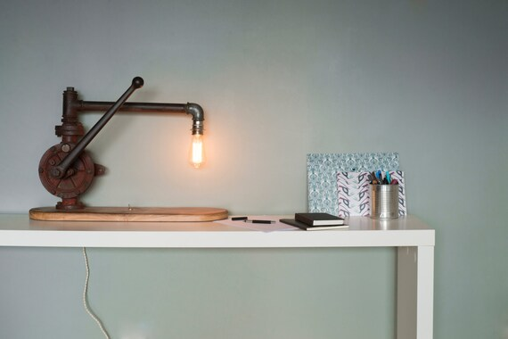 Beau lampe de bureau bois lampe de bureau bois et blanc u games me