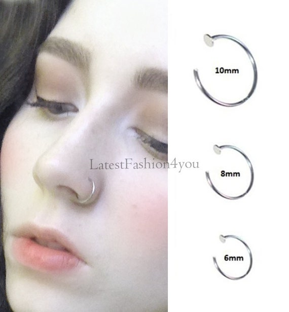 Extra Thin Small 0 8mm Nose Ring Small Nose Hoop Diameter Etsy