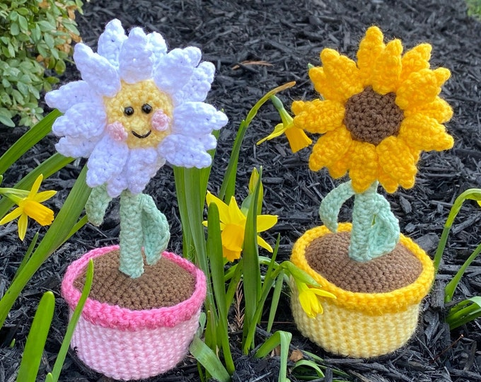 Sunflower & Daisy Crochet Pattern