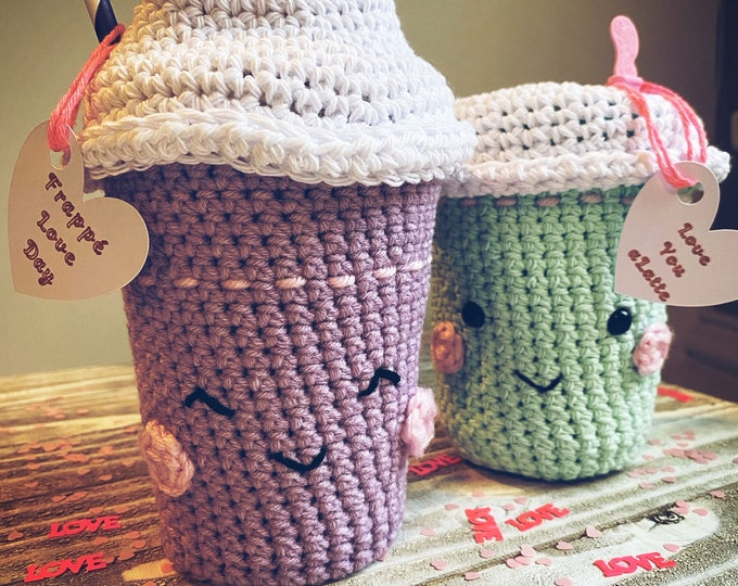 Love You a Latte & Frappé Love Day Crochet Pattern