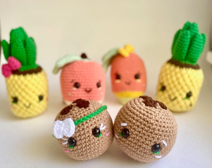 Tropical Fruit Crochet Pattern Bundle