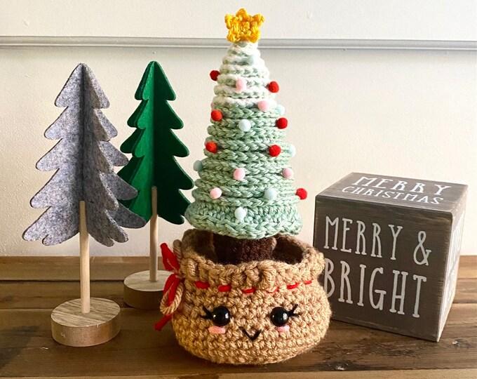 Burlap Sack Christmas Tree Crochet Pattern