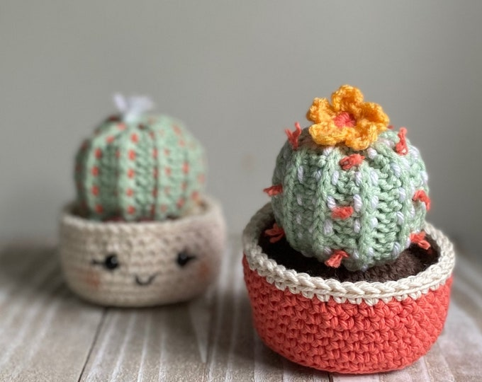 Barrel Cactus Crochet Pattern